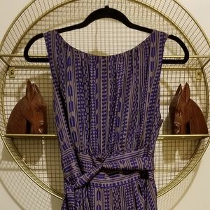 Eva Franco Sleeveless Abstract Pattern Dress